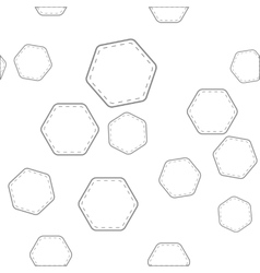 seamless pattern with hexagons vector image vector image