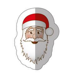 sticker face cartoon santa claus portrait icon vector image