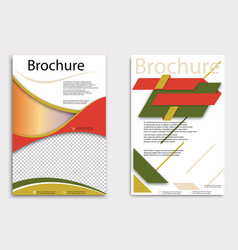 Abstract brochure template flyer layout flat vector
