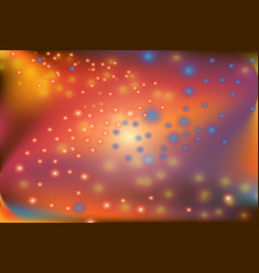 Abstract colorful twist shape and blinking dot vector