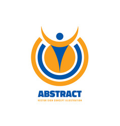abstract human character in circle shape vector image