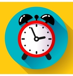 alarm clock icon flat vector image