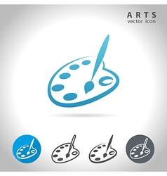Arts blue icon vector