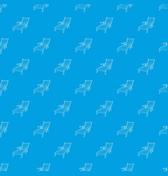 beach chaise lounge pattern seamless blue vector image