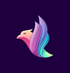 bird logo design vector image
