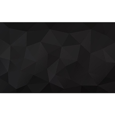 Black abstract geometric rumpled triangular vector