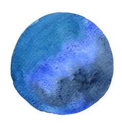 Blue and indigo watercolor circle banner vector