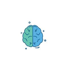 brain divide inkcontober sains icon desige vector image