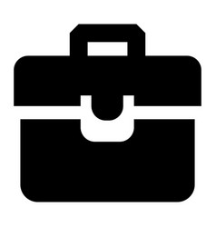 briefcase icon simple style vector image
