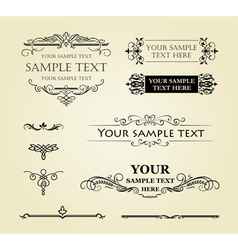 Calligraphic vintage decor vector