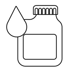 canister engine oil icon outline style vector image