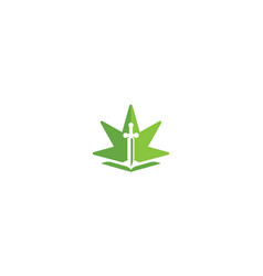 cannabis law logo icon vector image