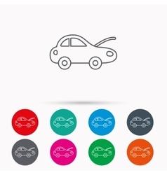 Car repair icon Mechanic service sign vector image