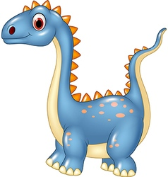 Cartoon cute dinosaur isolated on white background vector