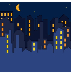 Cityscape at the night time vector