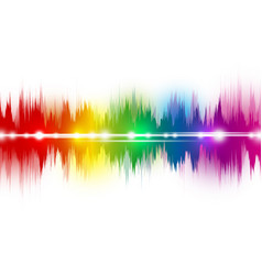 colorful music sound waves on white background vector image