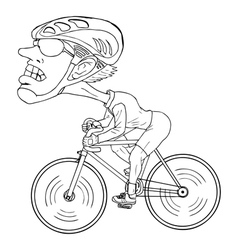 Cyclist Cartoon vector image