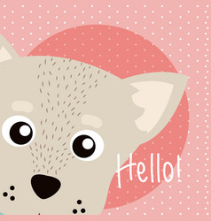 Dog cute animal cartoon vector