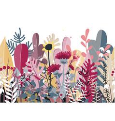 doodle seamless background stylized autumn vector image