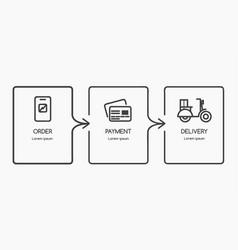 e commerce infographic design vector image