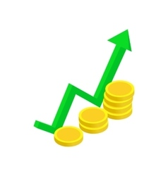 Finance growth icon isometric 3d style vector image