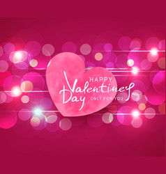 For valentines day heart on pink vector