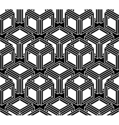 Geometric seamless pattern endless black and white vector