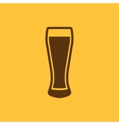 Glass of beer icon Beer and pub bar symbol UI vector image