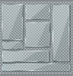 glass plate glass texture effect window plastic vector image