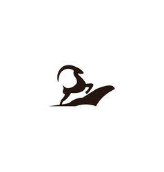 goat animal farm icon design s vector image