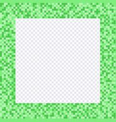 green pixel frame borders vector image