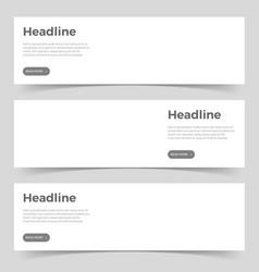 horizontal mockup banners vector image