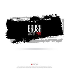 ink brush background eps10 vector image