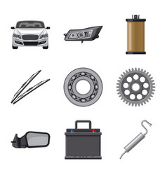 Isolated object of auto and part logo collection vector
