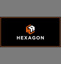 Ka hexagon logo design inspiration vector