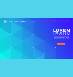 landing page template with gradient background vector image
