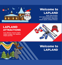 Lapland tourist travel and famous tourist culture vector