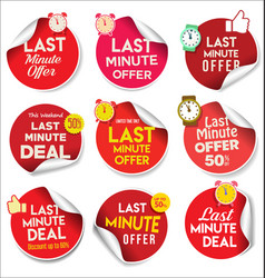 last minute offer colorful stickers 12 vector image