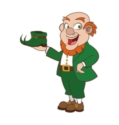 leprechaun character with boots icon vector image