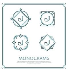 Letter J Monogram vector image