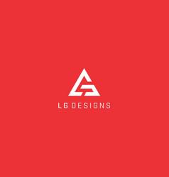 lg triangle logo design simple vector image