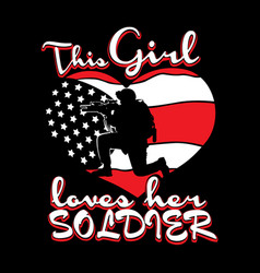 love soldier vector image