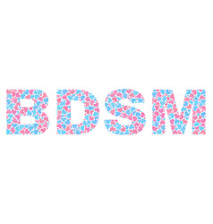 Lovely bdsm text collage of hearts vector
