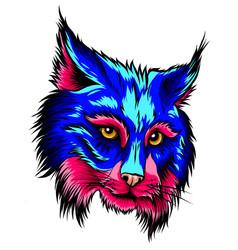 lynx head mascot logo graphics vector image