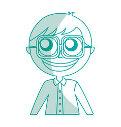 male nerd avatar character vector image