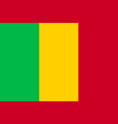mali tricolor national flat flag vector image