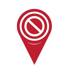 map pin pointer blank ban icon vector image