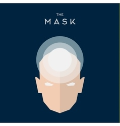 Mask flat Hero Villain superhero style icon vector image