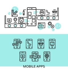 Mobile Apps Linear Composition vector