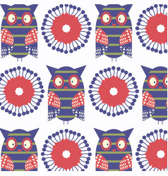 owls colorful abstract animals background design vector image